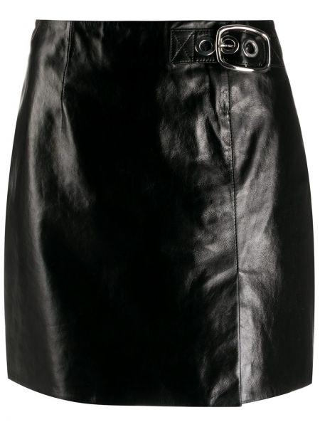 Черная прямая с завышенной талией юбка мини на молнии Alexa Chung