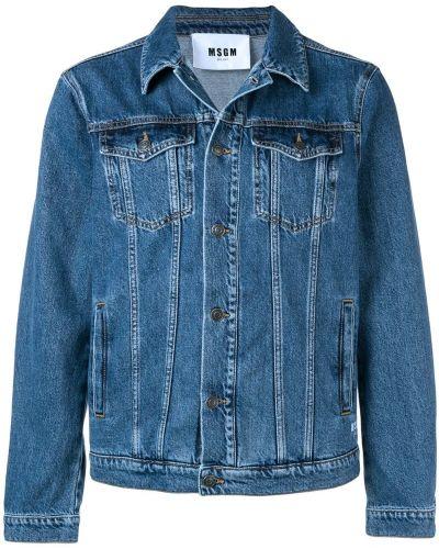 Джинсовая куртка с манжетами с логотипом Msgm