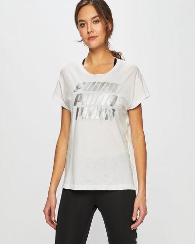 Спортивная футболка белая в клетку Puma
