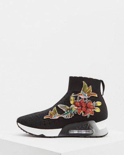 Черные высокие кроссовки Ash