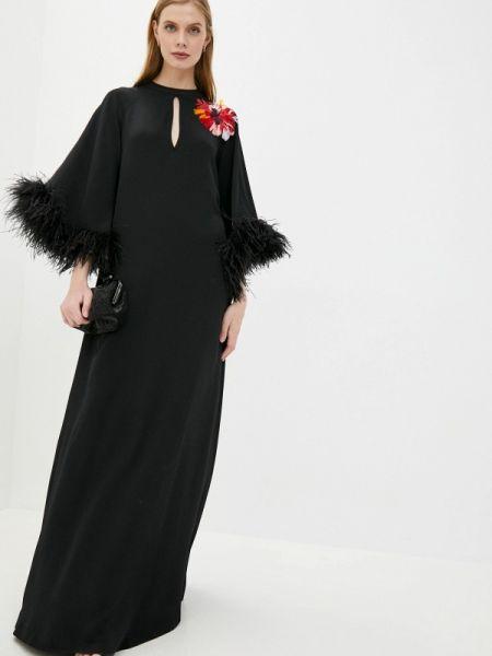 Вечернее платье черное весеннее Vivetta