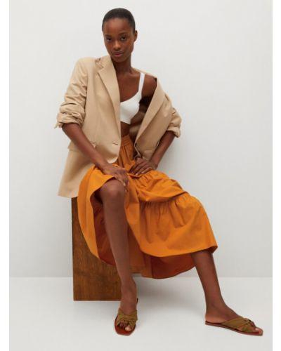 Pomarańczowa spódnica Mango