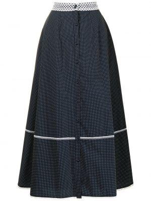 Niebieska spódnica koronkowa Erdem