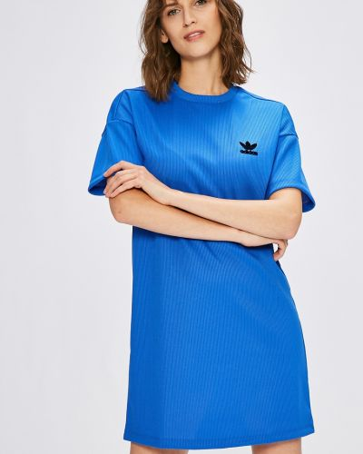 Платье мини свободного кроя трикотажное Adidas Originals