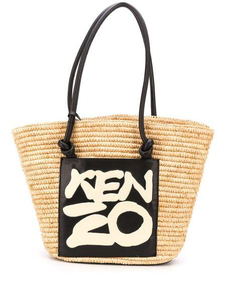 Желтая сумка-тоут Kenzo