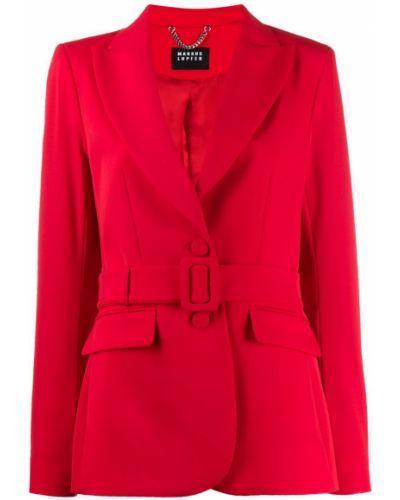 Красная длинная куртка Markus Lupfer
