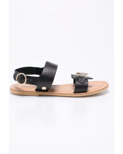 Черные сандалии кожаный Love Moschino