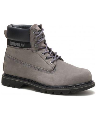 Кожаные ботинки - серые Caterpillar