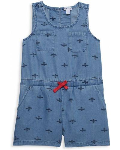 Синий джинсовый комбинезон с накладными карманами без рукавов Splendid