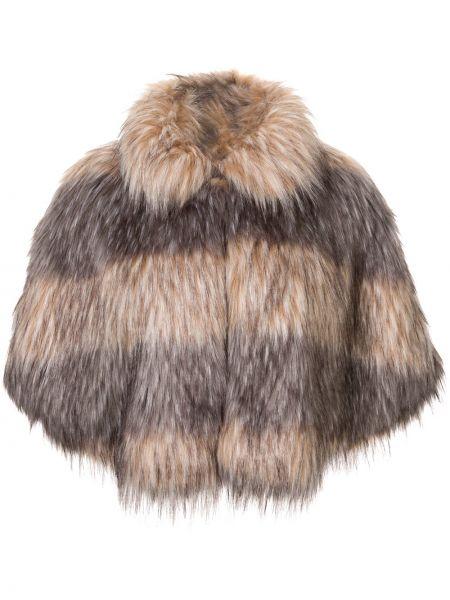 Серый кейп из искусственного меха Unreal Fur
