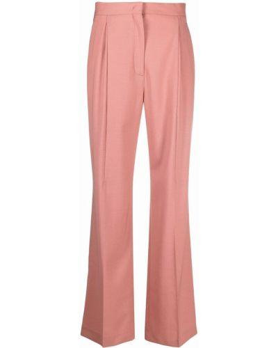 Розовые брюки из вискозы Ps Paul Smith