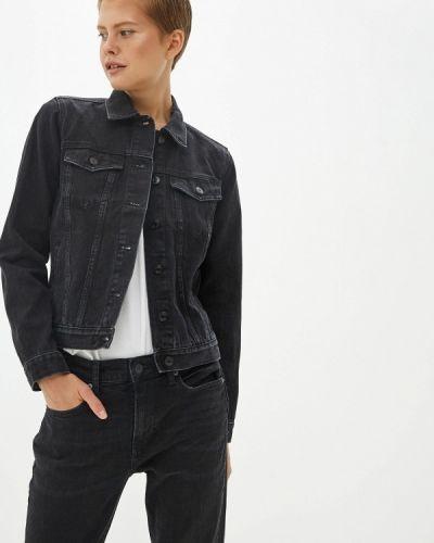 Джинсовая куртка черная осенняя Gap