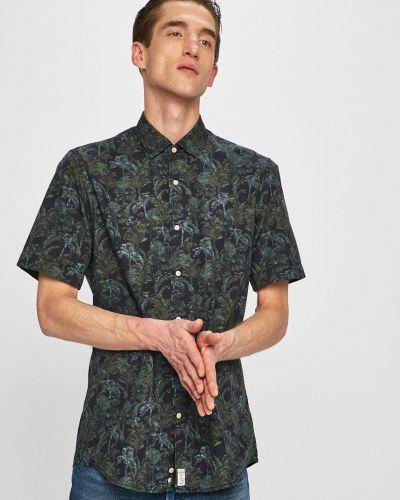 Рубашка с короткими рукавами тонкая темно-синий Pierre Cardin
