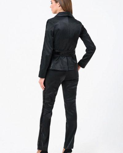 Облегающий черный брючный костюм Ricamare