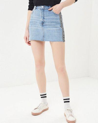 Голубая джинсовая юбка Topshop