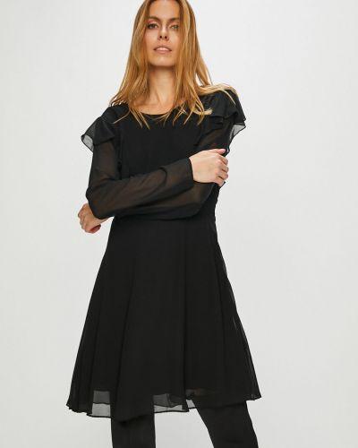 Платье мини с длинными рукавами с оборками Pepe Jeans