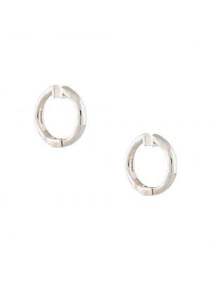 Серебряные серьги-кольца круглые E.m.