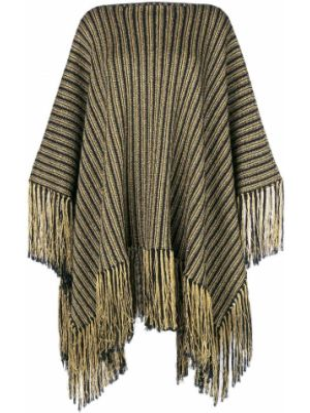 Платье с бахромой кожаное Saint Laurent