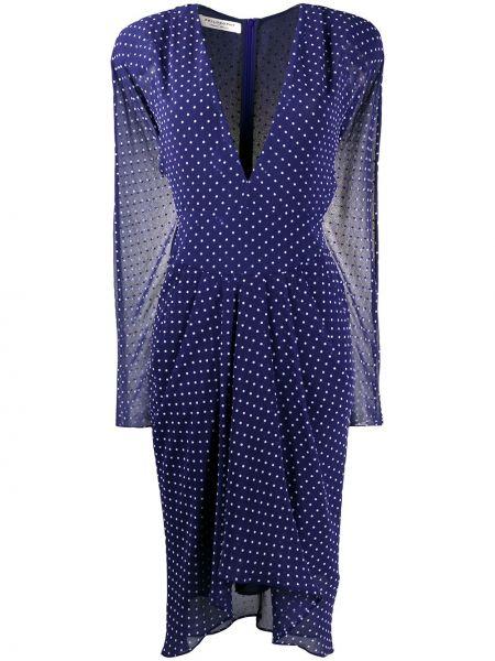 Платье миди в горошек с декольте Philosophy Di Lorenzo Serafini