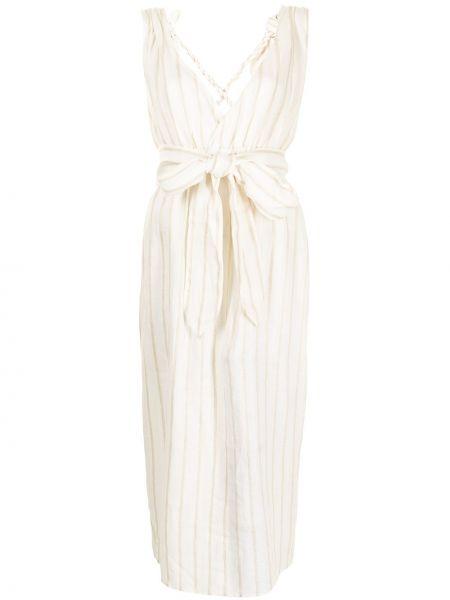 Льняное брендовое белое платье Mara Hoffman