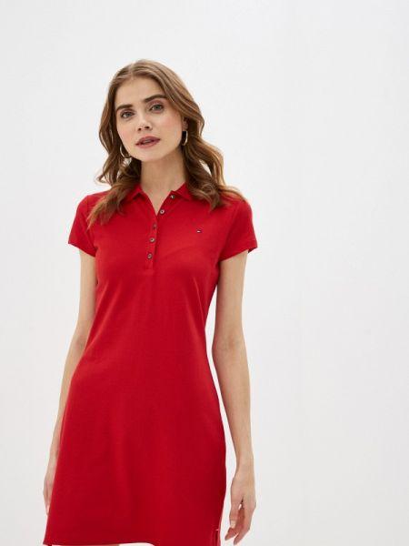 Платье футболка красный Tommy Hilfiger