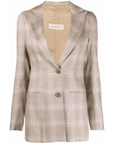 Удлиненный пиджак в клетку на пуговицах с лацканами Gentry Portofino