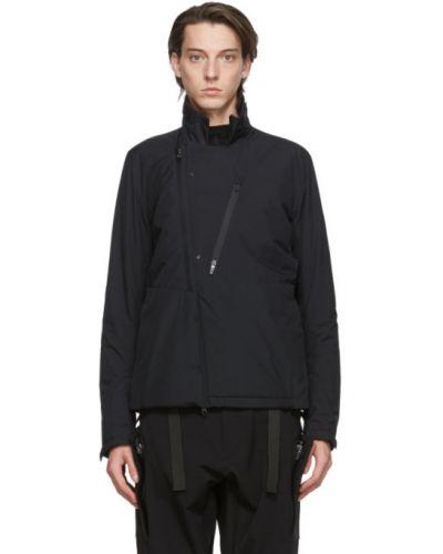 Ciepła czarna kurtka z nylonu Acronym