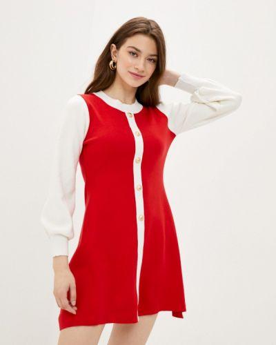 Ватное хлопковое красное вязаное платье Fresh Cotton