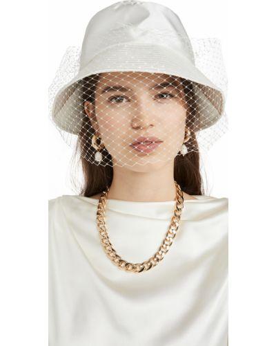 Satynowy kapelusz Jennifer Behr