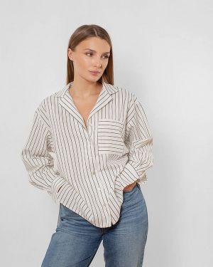 Белая блузка с длинным рукавом Love Pam