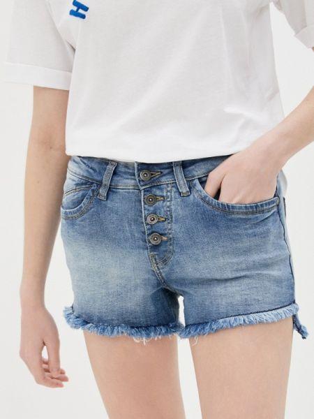 Синие джинсовые шорты со стразами Sublevel