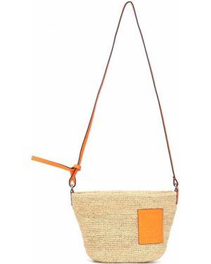 Сумка на плечо летняя оранжевый Loewe