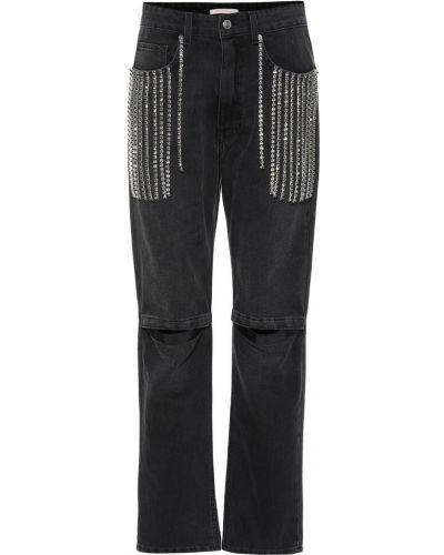 Bawełna bawełna czarny jeansy Christopher Kane