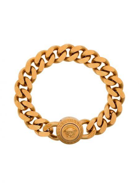Złota bransoletka łańcuch pozłacana Versace