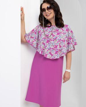 Платье розовое с цветочным принтом Charutti