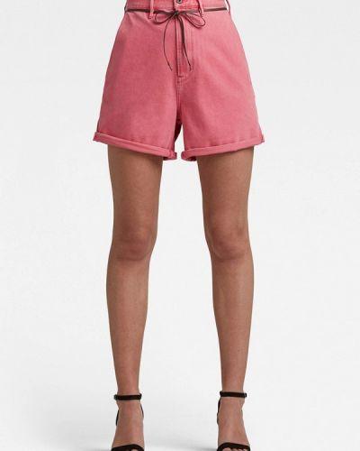 Розовые повседневные шорты G-star
