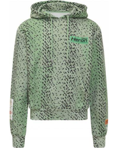 Zielona bluza Heron Preston
