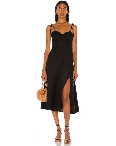 Черное платье на молнии Bardot