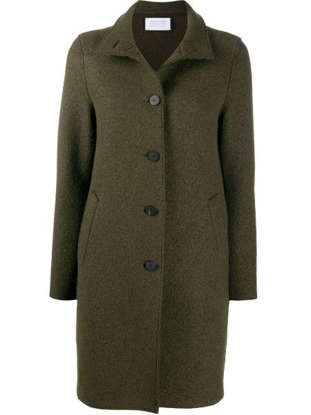 Однобортное шерстяное пальто с воротником на пуговицах Harris Wharf London