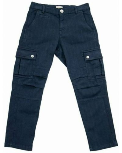 Niebieskie spodnie Brunello Cucinelli
