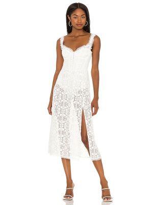Кружевное платье миди - белое For Love & Lemons