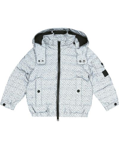 Szkoła puchaty niebieski pikowana płaszcz Burberry Kids