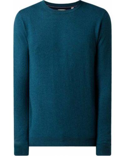 Sweter bawełniany - turkusowy Esprit