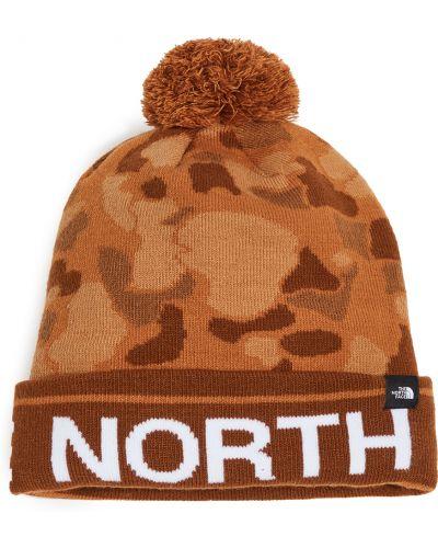 Акриловая зеленая шапка The North Face