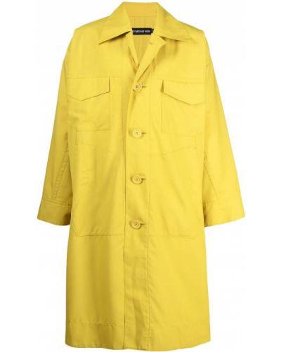Z rękawami płaszcz przeciwdeszczowy od płaszcza przeciwdeszczowego z kieszeniami z kołnierzem Issey Miyake