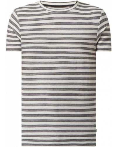 Biały t-shirt bawełniany w paski Q/s Designed By