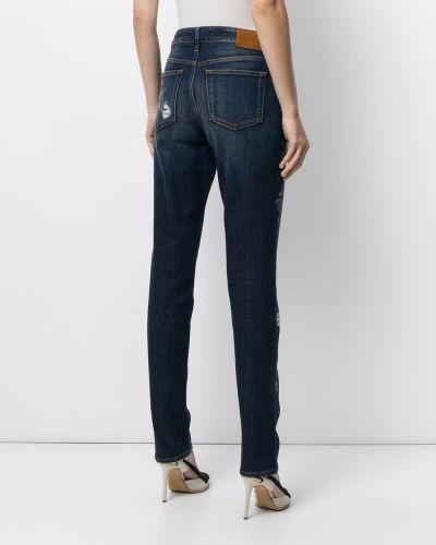 Хлопковые прямые джинсы с принтом классические Ralph Lauren Collection