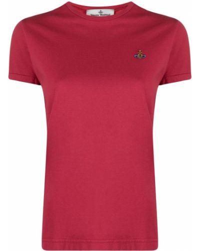 Хлопковая розовая с рукавами рубашка Vivienne Westwood