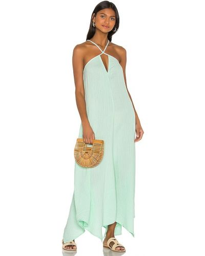 Комбинированное пляжное платье мятное Ellejay