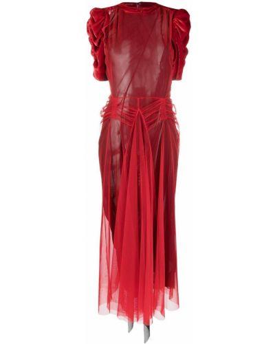 Платье из фатина - красное Maison Margiela